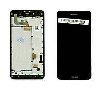 Матрица с тачскрином модуль для Asus PadFone mini 4.3 черный с рамкой