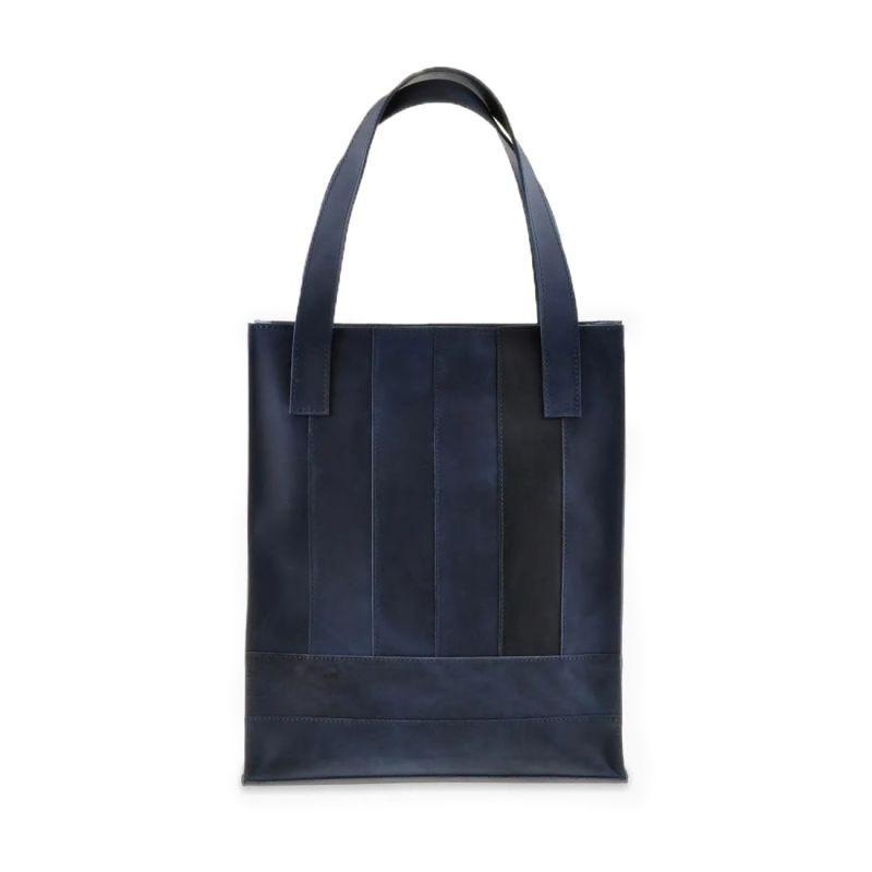 Кожаная женская сумка шоппер Blanknote Бэтси синяя