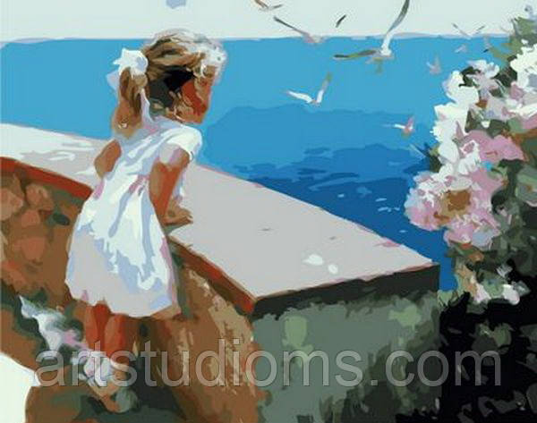 Картина по номерам Ласковое море 40 х 50 см (с коробкой)
