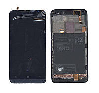 Матрица с тачскрином модуль Lenovo P770 черный с синей рамкой