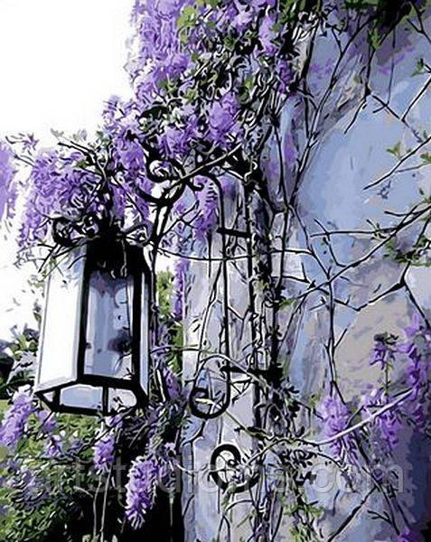 Картина по номерам Сиреневый фонарь 40 х 50 см (с коробкой)