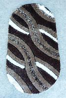 Ковер Polyester porto B652A Антрацитовый Овальный 1.2х1.8