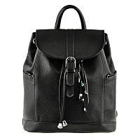 Кожаный женский рюкзак Blanknote Olsen черный