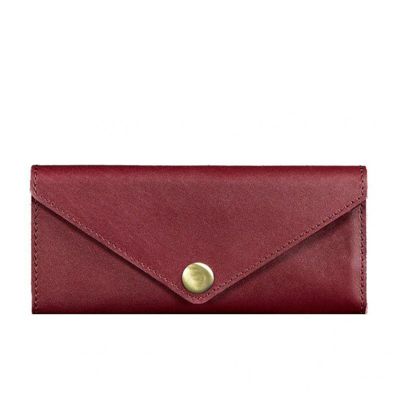 Женский кожаный кошелек Blanknote Керри 1.0 бордовый Krast