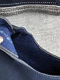 Мокасины,кеды, туфли слипоны синего цвета из натуральной замши, фото 7