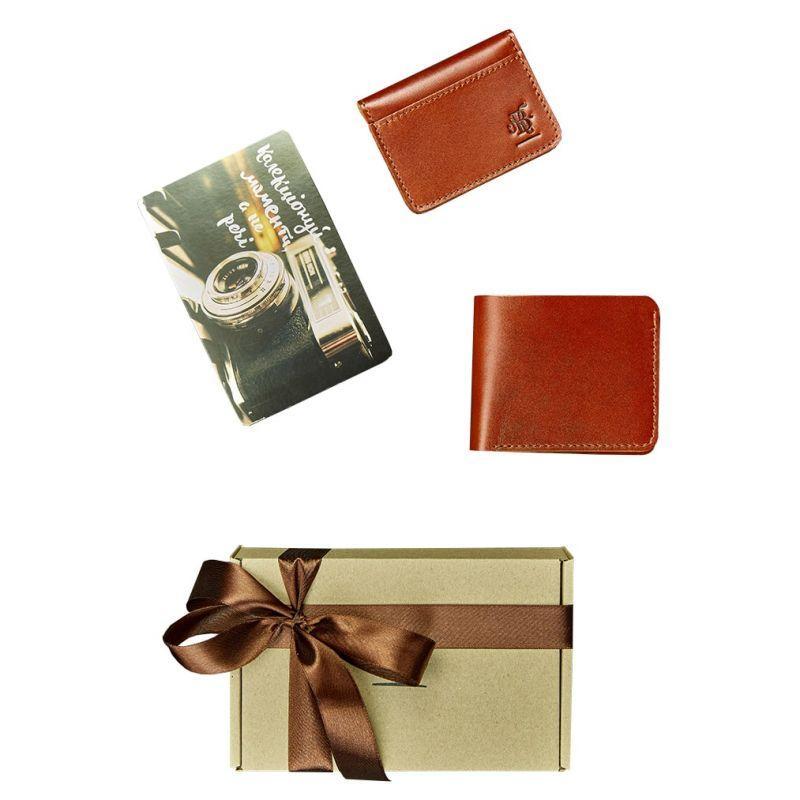 Мужской подарочный набор кожаных аксессуаров Blanknote Мехико