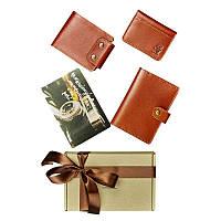 Мужской подарочный набор кожаных аксессуаров Blanknote Чикаго