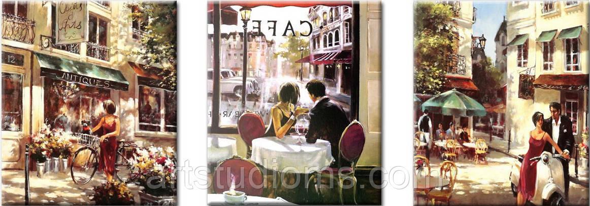 Картина по номерам Триптих. Летняя романтика Триптих 50 х 150 см (с коробкой)