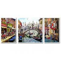 Картина по номерам Триптих Каникулы в Венеции Триптих 1 50 х 50 см, 2 по 30 х 50 см (с коробкой)