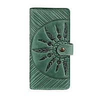 Кожаное женское зеленое портмоне Blanknote 7.0 Инди, фото 1