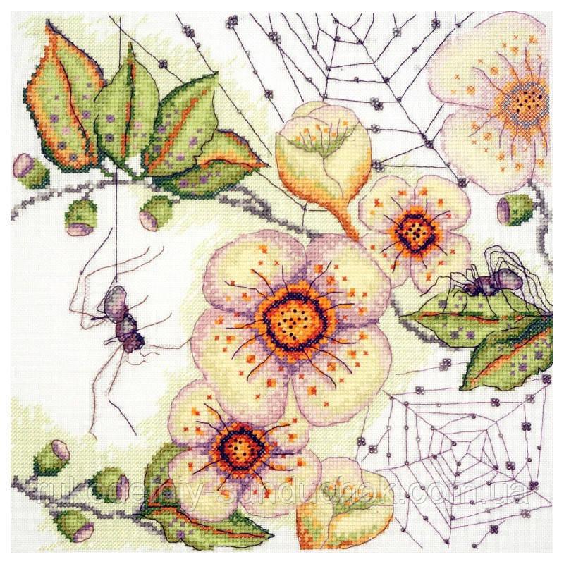 Набор для вышивания крестом ТМ Марья Искусница 03.015.11 Цветы и паучки