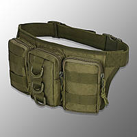 "🔥 Поясная сумка для боеприпасов ""Esdy - Y120"" (олива) тактическая поясная сумка, edc, бананка, сумка на пояс"