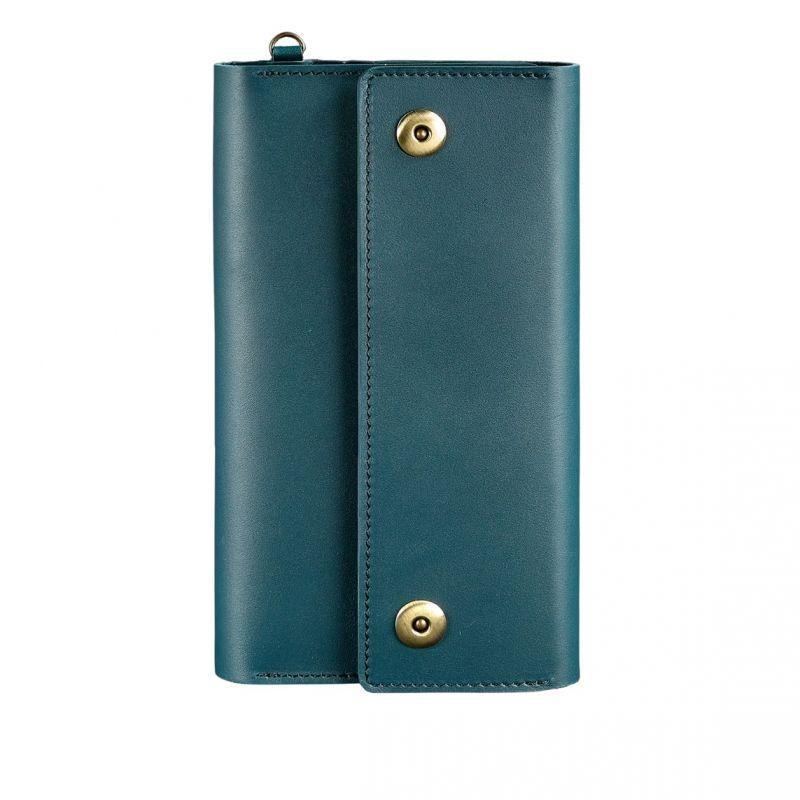 Кожаный женский клатч-органайзер (Тревел-кейс) Blanknote 5.0 зеленый