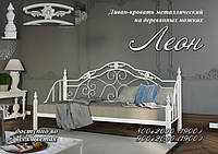 Кровать-диван 90*190 Леон (ножки-дерево)