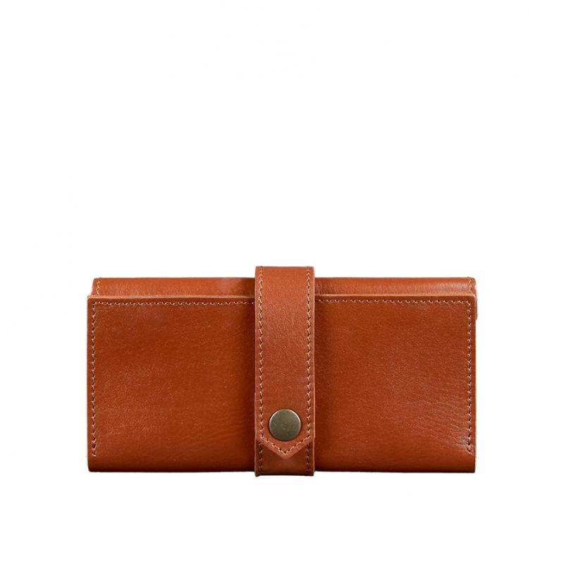 Кожаное женское портмоне Blanknote 3.0 светло-коричневое