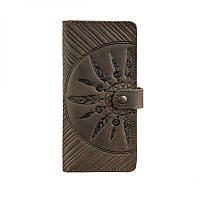 Кожаное женское портмоне Blanknote 7.0 Инди темно-коричневое