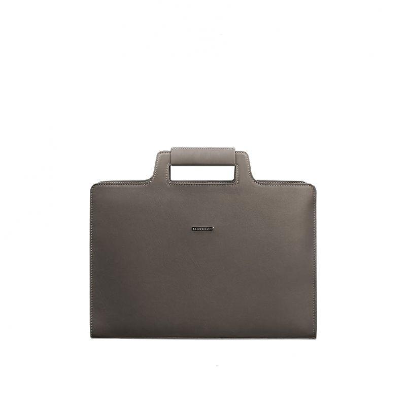 Женская кожаная сумка Blanknote для ноутбука и документов темно-бежевая