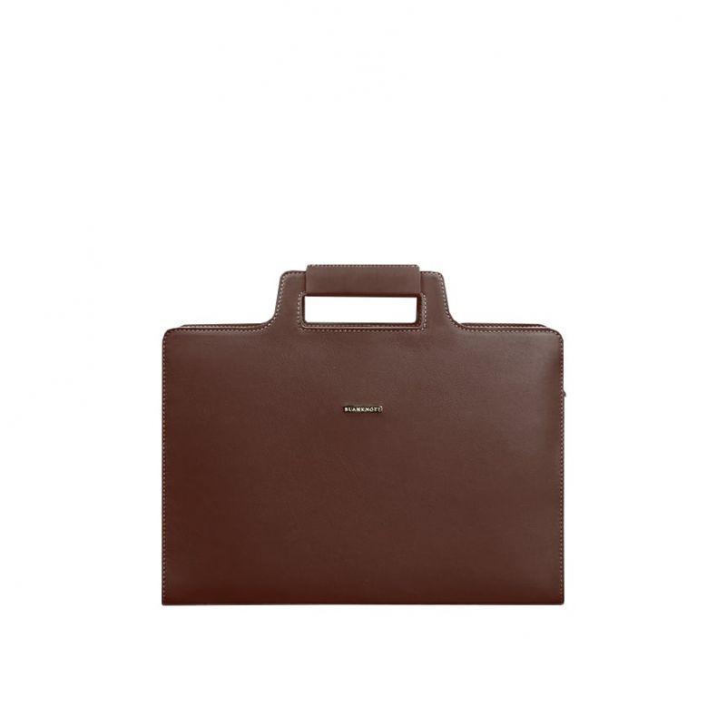 Женская кожаная сумка Blanknote для ноутбука и документов бордовая