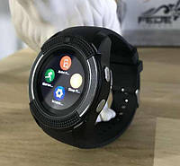 Сенсорные Smart Watch V8 смарт часы умные часы ЧЕРНЫЕ
