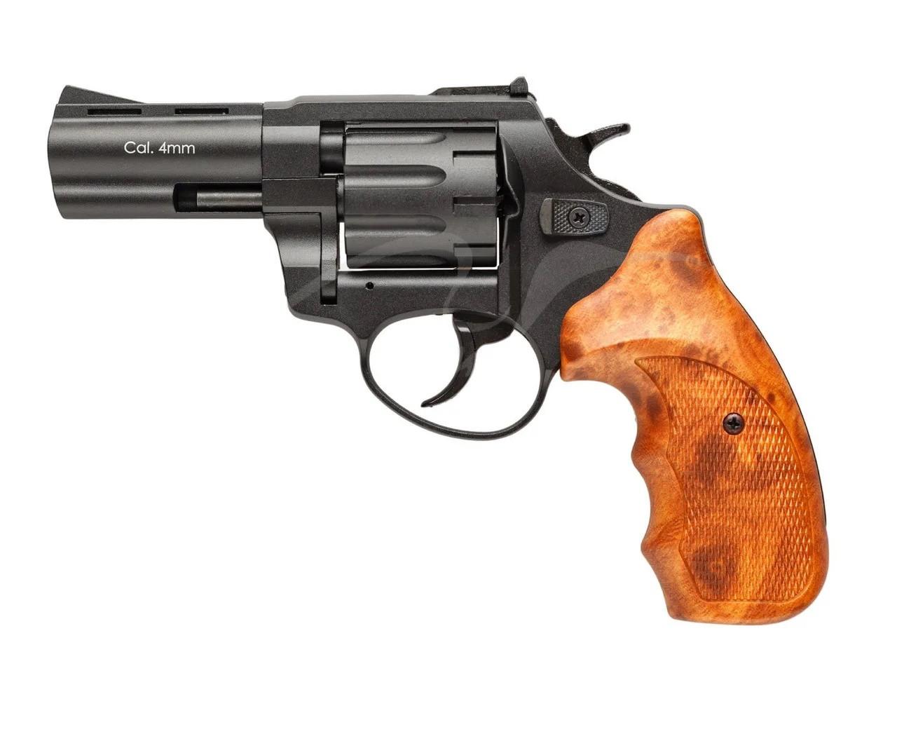 "Револьвер під патрон Флобера Stalker 3"" (барабан-сталь) чорна і коричнева ручка"