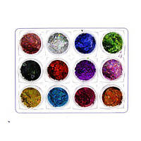Сердечки для декора ногтей mix цвета - 215257