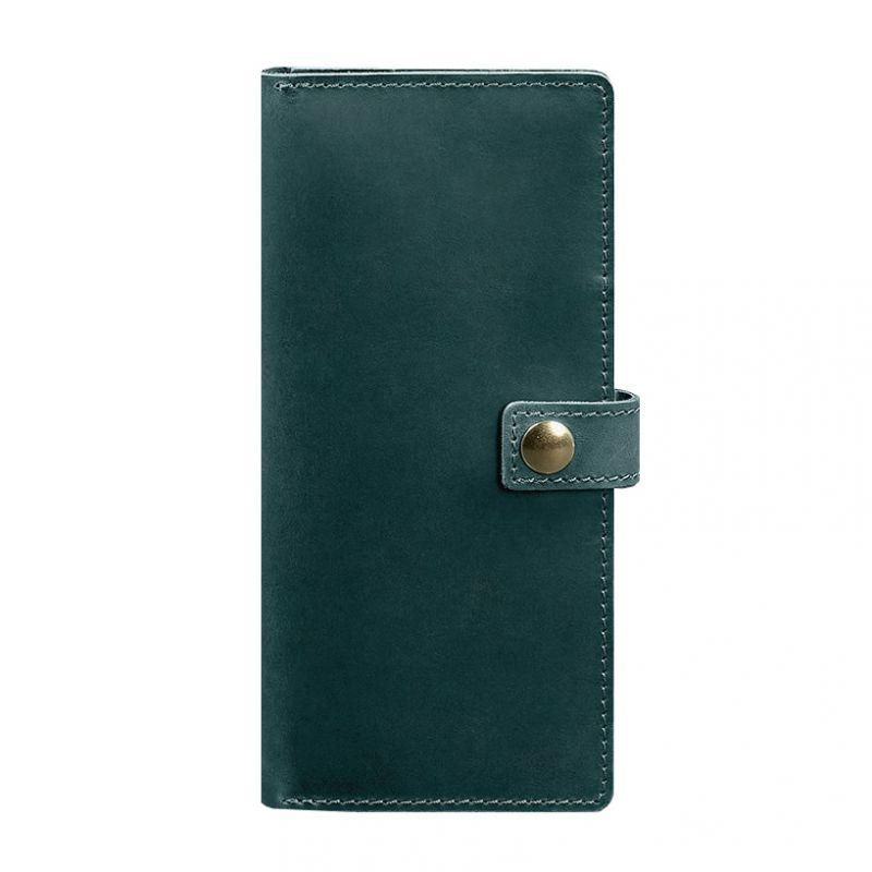 Кожаный Тревел-кейс Blanknote (органайзер для документов) Blanknote 6.0 зеленый