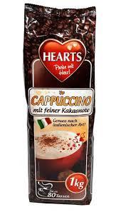 Капучіно з смаком какао Hearts Cappuccino Mit Feiner Kakaonote 1 кг