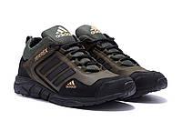 Мужские кожаные кроссовки Adidas Terrex Green (реплика)
