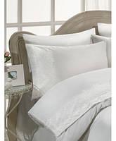 Комплект постельного белья сатин c гипюром  ТМ Gelin Home Pelin  white, фото 1