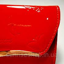 Клатч лаковый цвет красный, фото 3