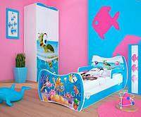 Детская односпальная кровать DREAM L04 160/80 – DM28 Голубой