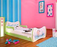 Детская односпальная кровать DREAM L06 180/90 – DM13 Зеленый