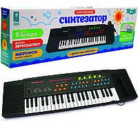 Детский синтезатор «Країна іграшок» с микрофоном от сети или батареек (PL-3738-U)