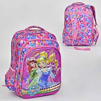 Рюкзак школьный с 2 отделениями и 3 карманами, мягкая спинка - 186073