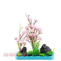 Пластиковое растение SUNSUN FZ 102