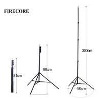Штатив тринога для лазерного уровня Firecore без крепления 3м оригинал