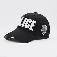 Кепка бейсболка Police (Полиция) Черная 2, Унисекс, фото 1