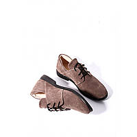 Женские туфли из натуральной замши низкий ход