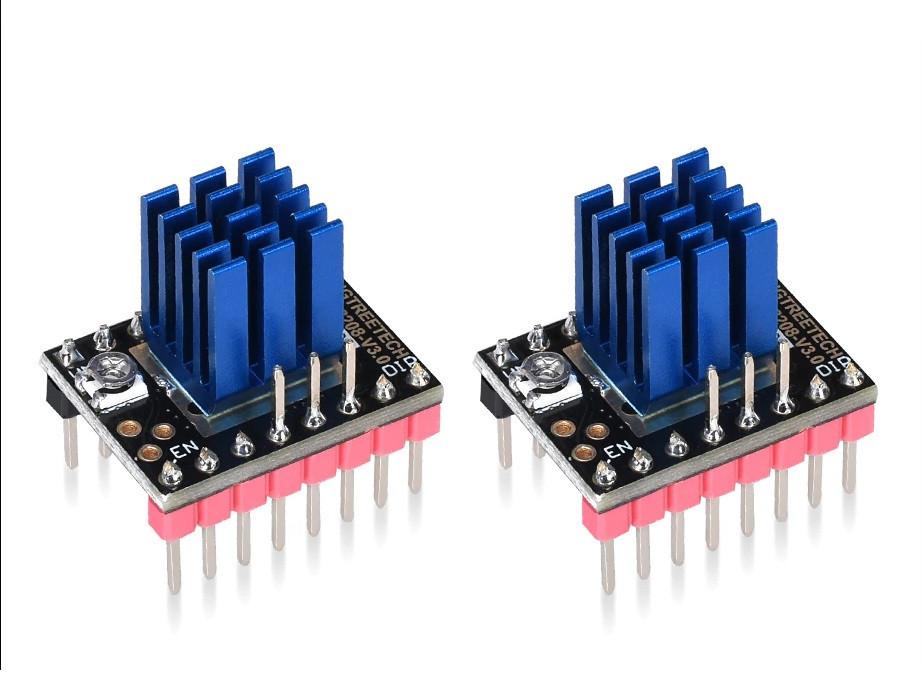 TMC2208 v3 DIY (STEP/DIR) с радиатором 1/256 тихий драйвер