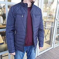 Куртка мужская стеганная 54 размер   Демисезонная мужская куртка - ветровка   наполнитель синтепон
