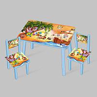 Столик Мини Pirates 60х46 см и 2 стула - 181705