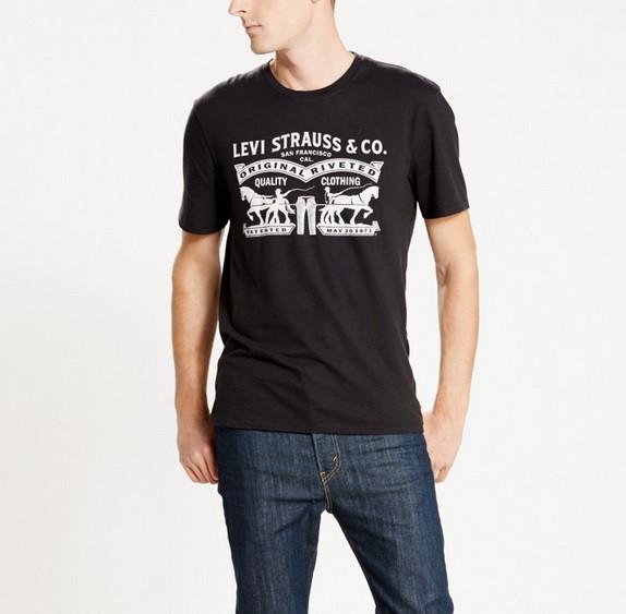 Мужская футболка Levis Housemark Tee - Black