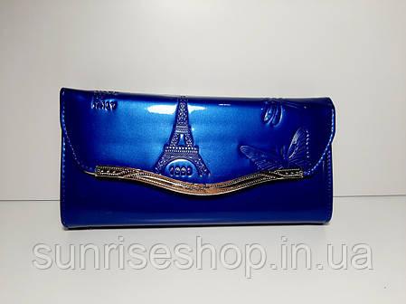 Клатч лаковий колір синій, фото 2
