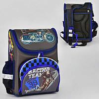 Рюкзак школьный каркасный с 1 отделением и 4 карманами, спинка ортопедическая - 186112