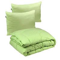 Одеяло с Подушками Двуспальное 172х205 силикон 300г/м2 Руно 9240.52СЛУ_Салатовий