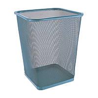 Ведро-корзина для бумаг метал сетка серая Trento 29437