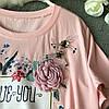 Красивая женская футболка с украшением 44-46 (в расцветках), фото 5