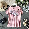 Красивая женская футболка с украшением 44-46 (в расцветках), фото 4