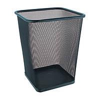 Ведро-корзина для бумаг метал сетка черная Trento 29436