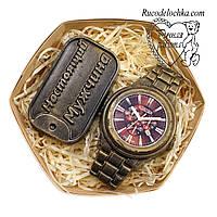 Мило для чоловіка в подарунок набір годинник, жетон справжній чоловік